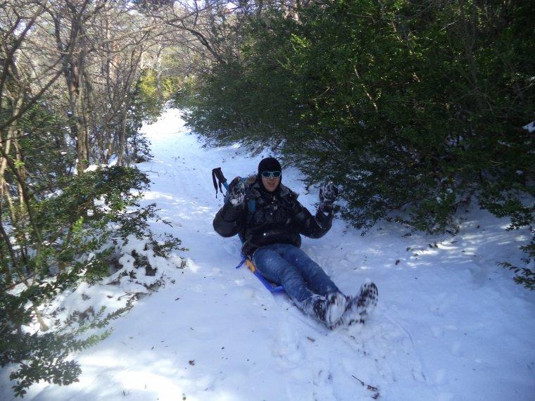Randonnée en raquette à neige à la ferme de la Lance avec maman, photos (4)