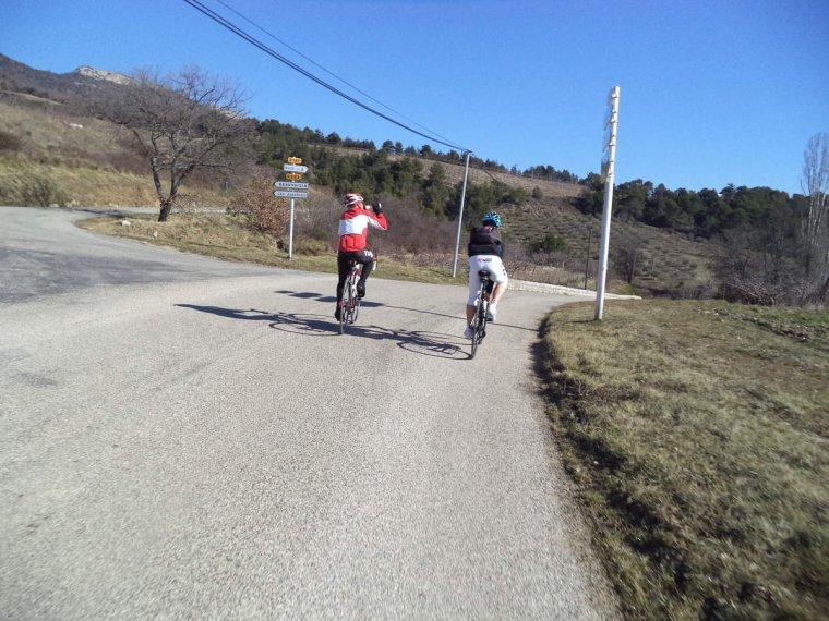 Grande sortie à vélo au col de Fontaube avec Gil et Jano