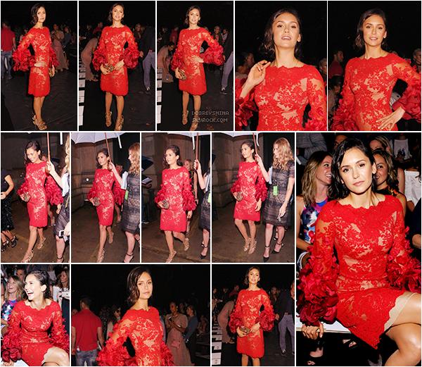 ♦ 14/09/2016 : La belle Nina s'est rendu à New-York pour la « Fashion Week ».   Notre Nina Dobrev est plus que ravissante dans cette sublime robe rouge signée Marchesa.  - - - - - - - - - - - - - - - - - - - - - - - - - - - - - - - - - - - - - - - - - - - - - - - - - - - - - - - - - - - - - - - - - - - - - - - - - - - - -