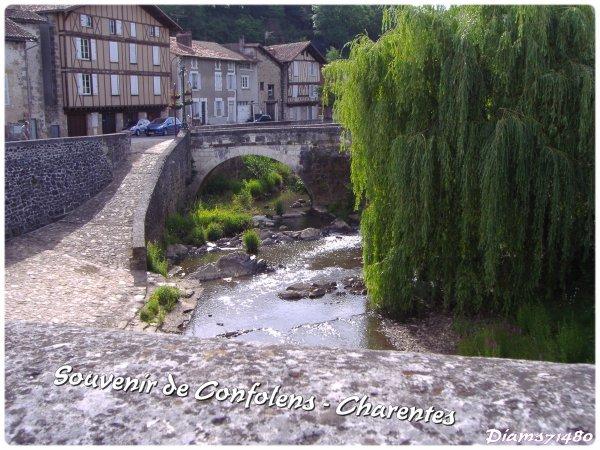 Souvenirs de Confolens en Charentes