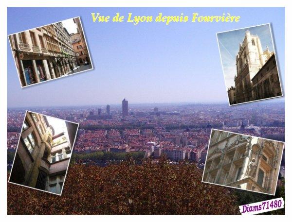 Balade samedi à Lyon à Fourvière et dans une partie du Vieux-Lyon