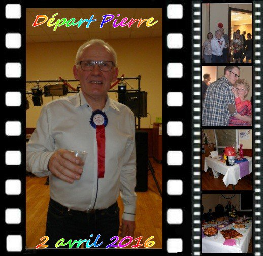$) Pierre a fêté son départ de l'entreprise !  $)