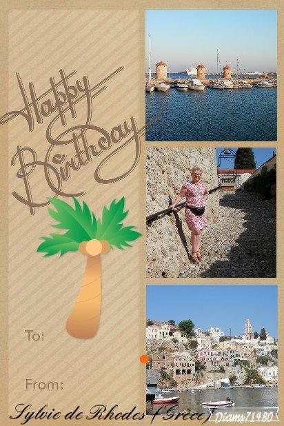 Mes maîtres sont rentrés à la maison après une semaine à Rhodes en Grèce!