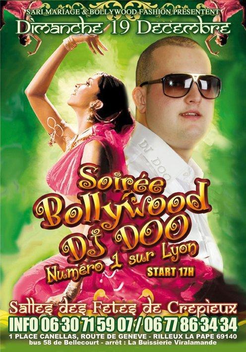 DIMANCHE 19 DECEMBRE 2010 GROSSE SOIRER BOOLYWOOD AVC DJ DOO NUMERO 1 SUR LYON