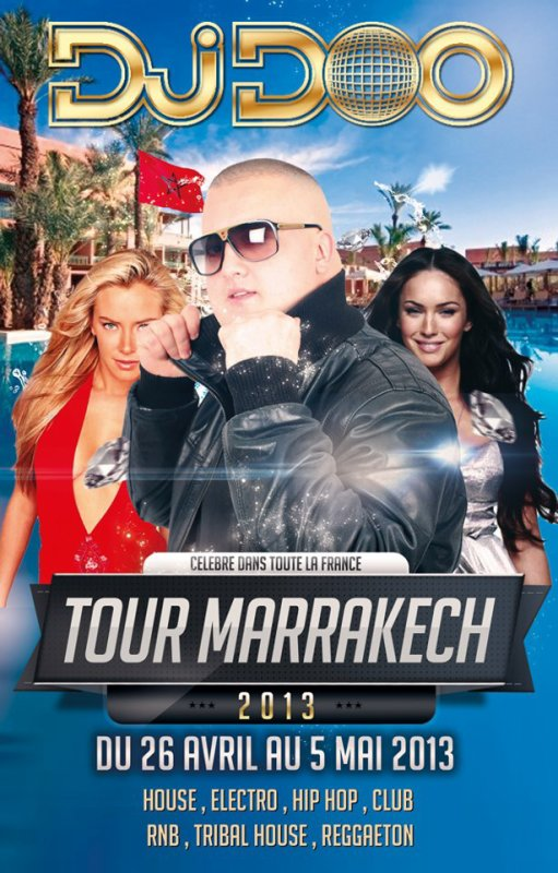 "DJ DOO "" TOUR MARRAKECH 2013 """