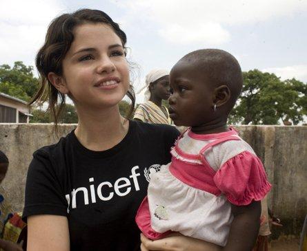 Selena soutient a fond l'UNICEF