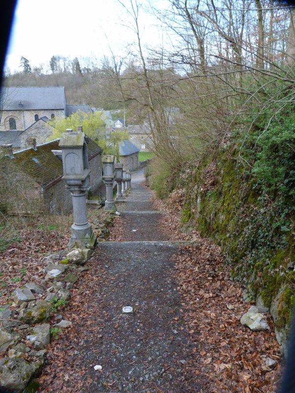 Mercredi 11 avril 2012 L'ermitage Saint Hadelin à Celles près de Dinant