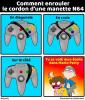 Enrouler le cordon d'une manette N64