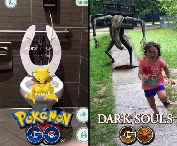 Pokémon GO VS Dark Souls GO