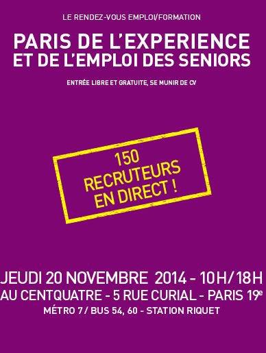 Paris de l'expérience et de l'emploi des seniors a l'Espace CentQuatre