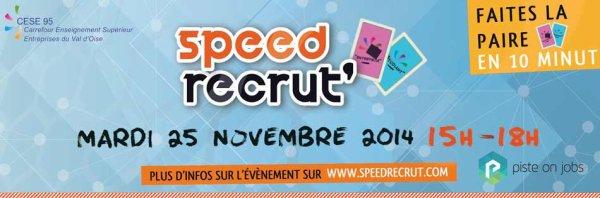 Speed Recrut' à ne pas manquer le 25 novembre