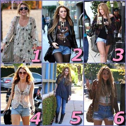 Quelle est la plus belle tenue de Miley Cyrus en 2010 ?