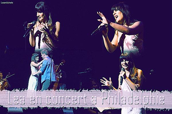 .  01/05/2017  : Lea  en concert dans le Merriam Theater à Philadelphie.    Elle était accompagnée de Jonathan son meilleur ami  TOP.[/font=Arial]    .