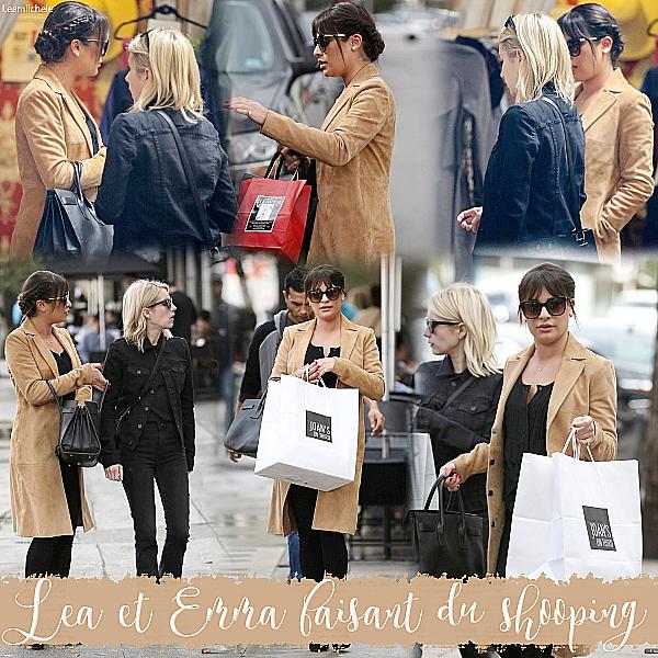 .  05/01/2017  : Lea et Emma Roberts faisant su shopping puis allant déjeuner chez Joan's On Third.     J'adore la tenue de Lea! Sa veste est juste parfaite!  Tout est absolument parfait! J'aime beaucoup sa coiffure.TOP.      [/font=Arial]    .