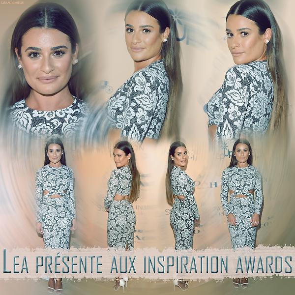 """.  02/06/2017 : Lea était présente a l'événement :"""" Step Up Women's Network Annual Inspiration Awards"""" .    Coté tenue : tenue assez sympa, sa robe lui va très bien . j'aime son make up et la voir les cheveux détachés ! c'est un  TOP.[/font=Arial]    ."""