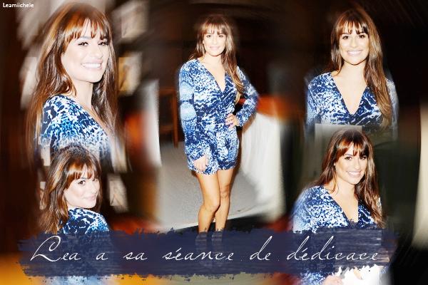 """.  21/05/2014 : Lea a été vue quittant son hôtel a New York City.  Elle se rendait a une séance de dédicace pour son livre : """"Brunette Ambition"""". Je suis absolument fan de sa robe! sublime. C'est un  TOP.[/font=Arial]    ."""