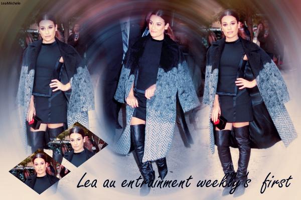 .  23/10/2015  : Lea arrivant a son hôtel a New York .     Tenue très jolie ! simple mais efficace! j'aime son bonnet et ses chaussures. TOP.      [/font=Arial]    .