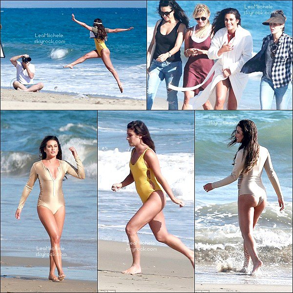 .  01/09/2016  : Lea quittant un photoshoot a Malibu.     J'aime beaucoup sa tenue ! simple mais jolie! je trouve ses cheveux sublimes.TOP.      [/font=Arial]    .