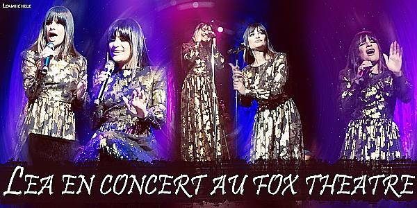 .  04/05/2017  : Lea   a donner un concert dans le Fox Theater, à Ledyard.    J'aime beaucoup sa robe! sa change et puis j'adore la voir les cheveux lissés comme sa! elle est sublime  TOP.[/font=Arial]    .