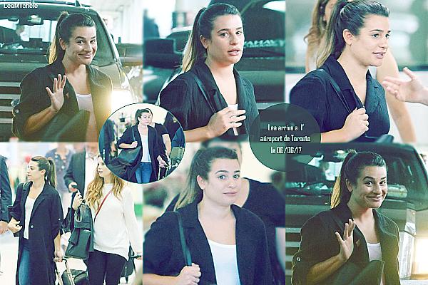 """.  07/06/2017 : Lea a été vue arrivant à l'Aéroport de Toronto avec Joanna Garcia Swisher.     La belle participe au CTVUpfront pour promouvoir sa nouvelle série : """"The Mayor"""". Coté tenue : J'aime sa tenue ! très simple mais jolie :) Lea est très jolie au naturelle :) .c'est un  BOF.[/font=Arial]    ."""