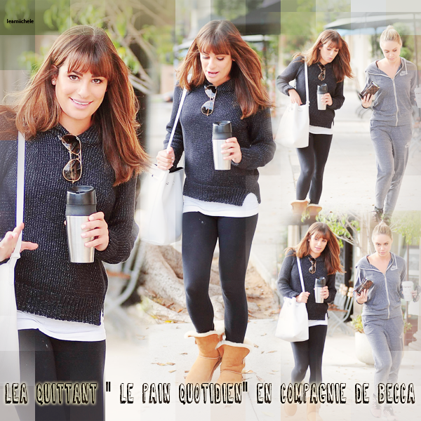 .  13/10/2014  : Lea a été vue quittant le Earth Bar.     Elle est toute souriante, sa fait plaisir ! J'aime sa robe noire ! très jolie! TOP.      [/font=Arial]    .