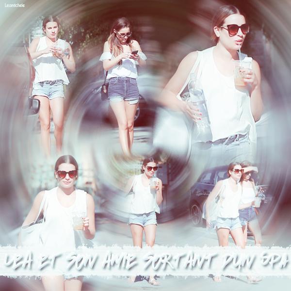 .  19/062016  : Lea et son amie allant au SPA.     J'aime beaucoup sa tenue! Son short et son haut sont plutôt cool.TOP.      [/font=Arial]    .