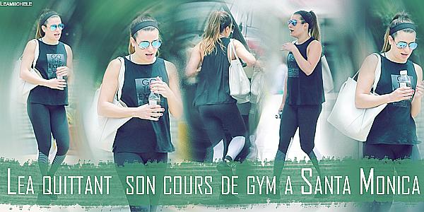 .  26/05/2017 : Lea a été vuequittant son cours de gym a Santa Monica .    Coté tenue : tenue assez sympa, j'aime beaucoup son débardeur et son leggings. c'est un  TOP.[/font=Arial]    .