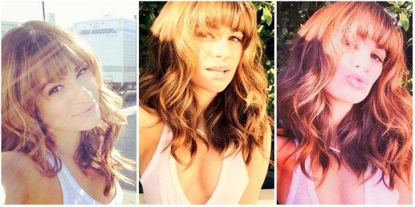 .  19/11/2014  : Lea a été vue sur le tournage de Glee avec Darren Criss.     Toute mignonne! J'aime son sourire! Sa veste est très jolie ! TOP.      [/font=Arial]    .