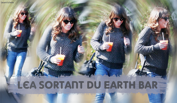 .  21/11/2014  : Lea a été vue sortant du Earth Bar.    Tenue simple mais très jolie! J'aime beaucoup son haut . TOP.      [/font=Arial]    .