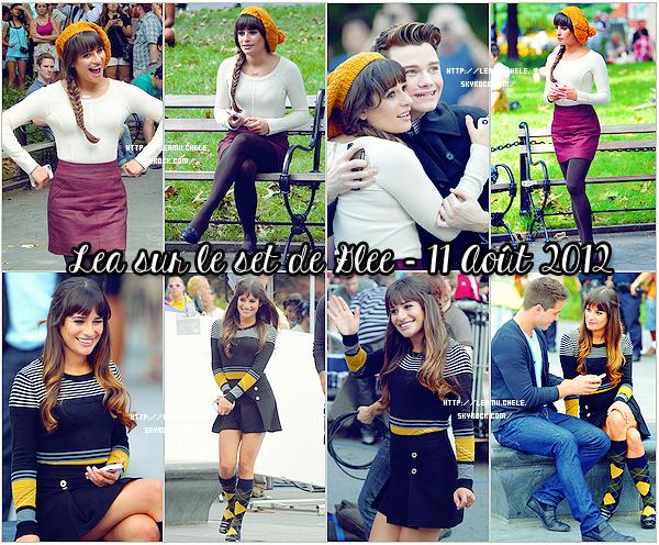 .  11/08/2012 : Lea a été vue sur le tournage de Glee.   Elle est magnifique !!! J'aime beaucoup ces photos ! Ses tenues sont superbes !! C'est un  TOP.[/font=Arial]    .