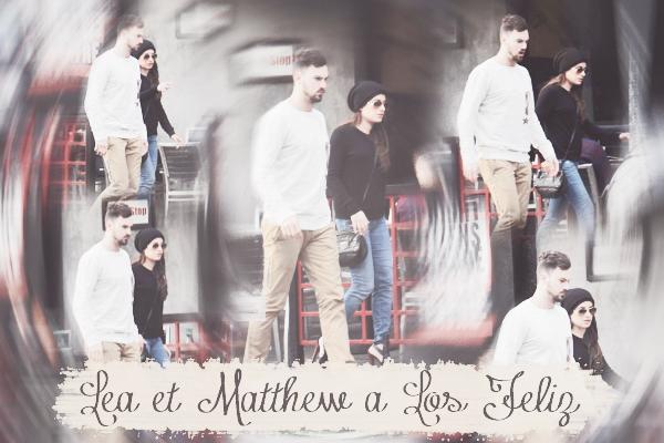 .  06/12/2014  : Lea a été vue en compagnie de Matthew faisant une randonnée.     J'aime le T-Shirt de Lea ! Petit TOP.      [/font=Arial]    .
