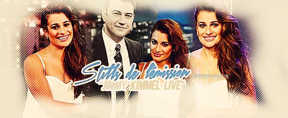 """.  21/01/2015  : Lea a été vue arrivant au """"Jimmy Kimmel Live"""".     J'adore sa tenue ! très classe, sa lui va très bien ! et j'adore sa coiffure!  TOP.      [/font=Arial]    ."""