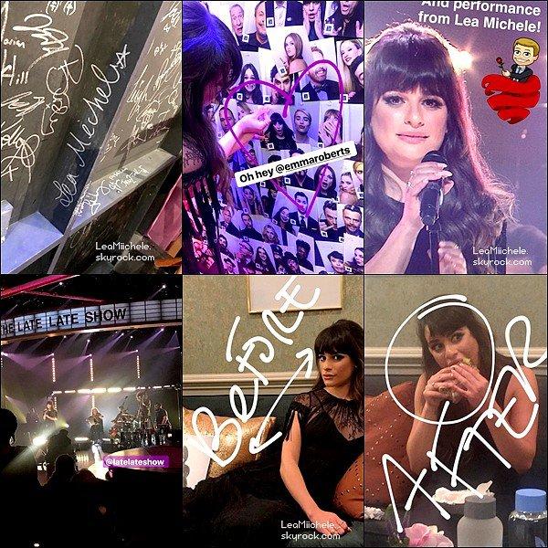 """.  14/03/2017  : Lea   était présente sur le plateau du Late late Show with James Coden.     Lea a interprété son tout nouveau single : """"Love is Alive""""! J'adore! J'aime beaucoup sa robe noire. TOP   [/font=Arial]    ."""
