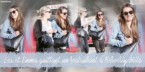 .  31/01/2017  : Lea   passant la journée avec Emma Roberts.      Elles ont été vues quittant le restaurant Sugarfish a Berverly Hills. J'aime la tenue de Lea ! Toujours simple mais jolie.  Beau TOP   [/font=Arial]    .