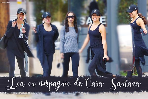 .  07/01/2017  : Lea quittant une salle de sport avec une amie     Lea a été vue en compagnie de Cara Santana. Lea est très souriante ! J'aime ce  genre de Candid! Tenue assez sympa TOP.      [/font=Arial]    .