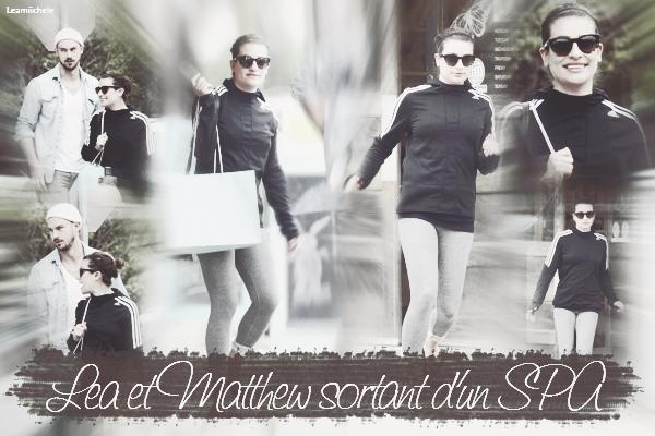 .  30/03/2015  : Lea et Matthew ont été vus sortant d'un SPA.     Je n'aime pas sa tenue .. FLOP.      [/font=Arial]    .