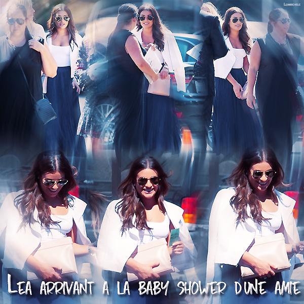 .  11/09/2016  : Lea a la Baby Shower de son amie Stéphanie.     Lea est vraiment très classe !! J'aime beaucoup sa tenue TOP.      [/font=Arial]    .