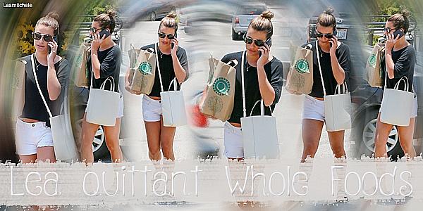 .  06/07/2017 : Lea quittant l'épicerie Whole Foods.  Lea a été vue sur le parking de l'épicerie Whloe Foods au téléphone après avoir fait quelques courses ! Je trouve Lea trop jolie ! J'aime sa tenue toujours simple mais vraiment jolie ! j'aime beaucoup son short!C'est un  TOP.[/font=Arial]    .