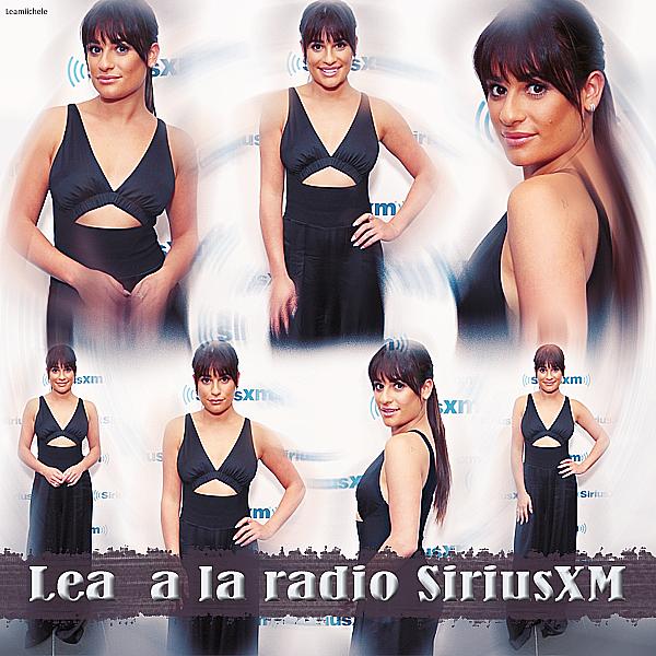 .  26/04/2017  : Lea   présente a la radio SiriusXM pour une interview.    J'adore la tenue de Lea ! elle est toute jolie ! C'est un beau  TOP.[/font=Arial]    .
