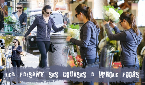 .  29/11/2015  : Lea faisant ses courses a Whole Foods.     Tenue très sympa, j'aime beaucoup sa veste ! TOP.      [/font=Arial]    .