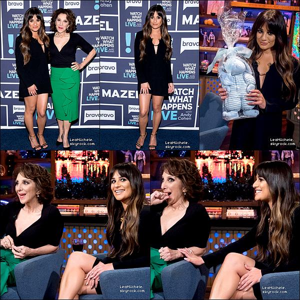 """.  25/04/2017  : Lea   dans l'émission """"Watch What Happens Live"""".    Lea est très classe, sa robe est simple mais jolie! petit  TOP.[/font=Arial]    ."""