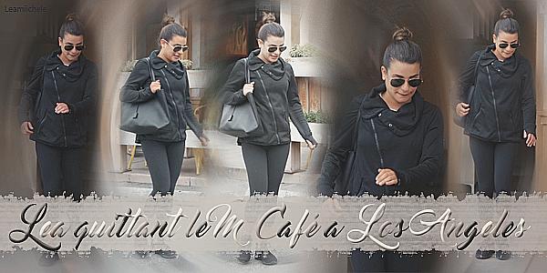 .  27/02/2017  : Lea   a été vue quittant le M Café a Los Angeles.     J'aime bien sa veste , je la trouve jolie et ses lunettes!Petit TOP   [/font=Arial]    .
