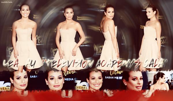 """.  02/06/2016  : Lea présente à l'événement :""""Television Academy's 70th Anniversary Gala """".     Lea est vraiment magnifique !! J'aime beaucoup sa robe et sa coiffure !! TOP.      [/font=Arial]    ."""
