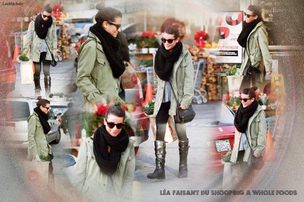 .  07/12/2013 : Lea a été vue faisant ses courses a Whole Foods.  j'adore sa tenue !!! tout me plait !! C'est un  TOP.[/font=Arial]    .