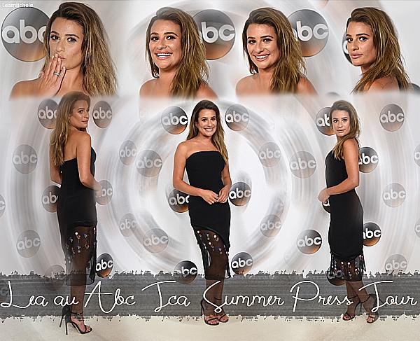 """.  06/08/2017 : Lea été présente au au """"TCA Summer Tour Disney ABC Television Group """".   Lea est juste magnifique !! tout est absolument parfait ! Sa robe lui va merveilleusement bien et puis son make up est très réussi ! j'aime beaucoup ses cheveux comme sa ! ils sont juste sublime!! C'est un  TOP.[/font=Arial]    ."""