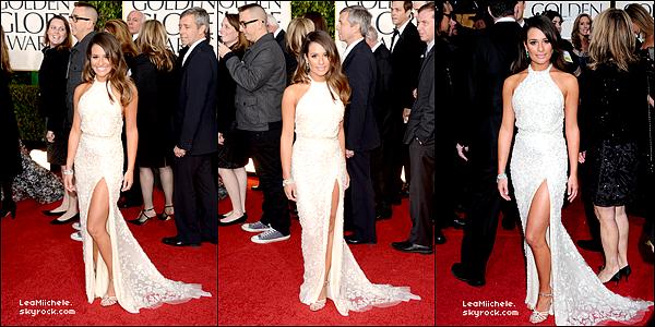 .  13/01/2013 : Lea était présente au Golden Globe Awards.   Elle est juste magnifique !!! J'aime tellement sa robe blanche ! Elle lui va vraiment bien ! C'est un  TOP.[/font=Arial]    .