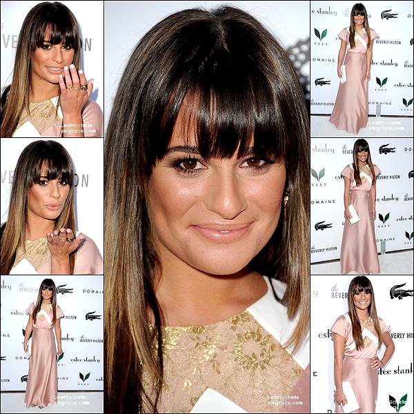 """.  22/05/2013 : Lea présente à l'événement : """"Berverly Hilton Unveiling Of The Redesigned aqua star pool"""".   Je trouve Lea sublime !! j'aime beaucoup sa mise en beauté ainsi que ses cheveux ! :) Son make up est très joli également!C'est un  TOP.[/font=Arial]"""