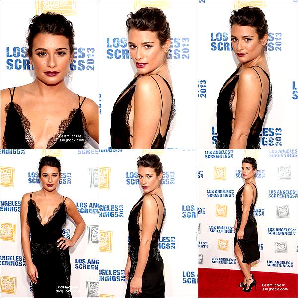 """.  23/05/2013 : Lea présente a l'événement:  """" Fox Television 's Los Angeles  Screenings Lot Party"""".  J'aime beaucoup sa robe, sa coiffure et jolie aussi et son make up est assez réussi :) un sans faute pour moi ! :) C'est un  TOP.[/font=Arial]    ."""