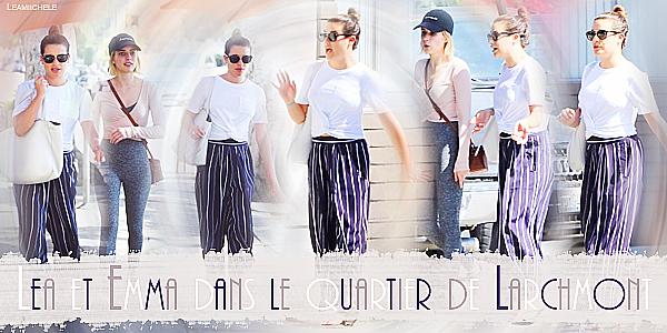 .  17/08/2017 : Lea a été vue en compagnie de son amie  Emma Roberts à Los Angeles sortant un SPA.  Tenue simple j'aime bien le Tee Shirt de Lea , par contre j'aime moins son pantalon. C'est un  BOF.[/font=Arial]    .