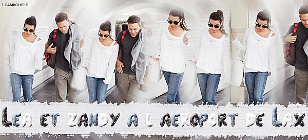 .  02/09/2017 : Lea a été vue en compagnie de son petit ami Zandy a l'aéroport de LAX à Los Angeles.  Tenue très simple pour Lea mais vraiment jolie ! j'aime beaucoup son haut blanc et ses baskets ! C'est un  TOP.[/font=Arial]    .